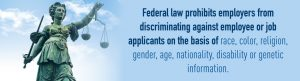 federal law prohibits discrimination
